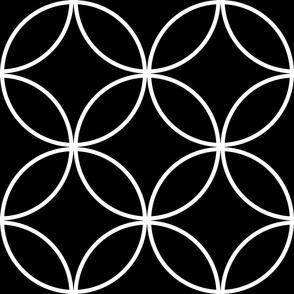 Circle Lock ~  White on Black