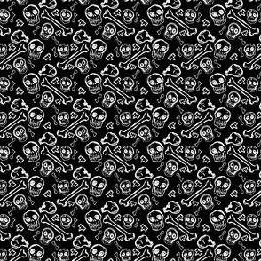 Scribble Goth - Ditzy Bones in black