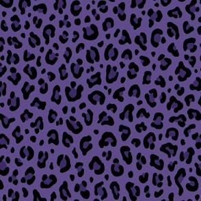 ★ PSYCHOBILLY LEOPARD – LEOPARD PRINT in PURPLE (Ultra Violet) ★ Small Scale / Collection : Leopard Spots – Punk Rock Animal Print