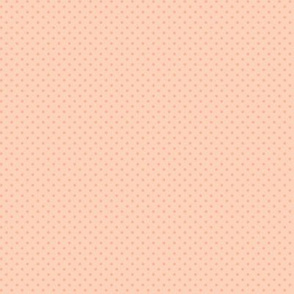 Peach polka dots for snail mail