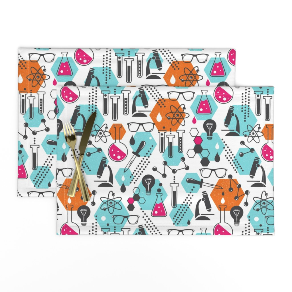 Lamona Cloth Placemats featuring Chemistry Lab - Modern Girl by heatherdutton