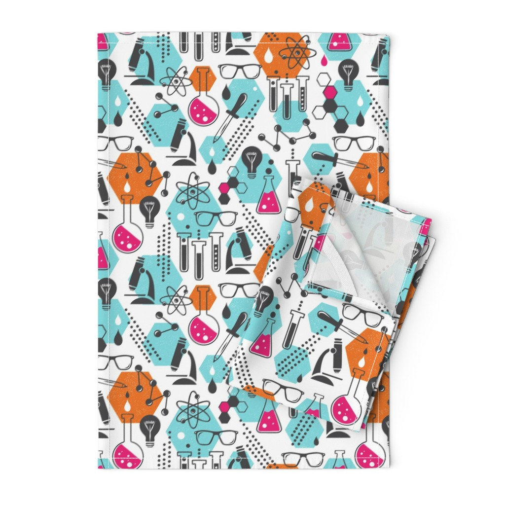 Orpington Tea Towels featuring Chemistry Lab - Modern Girl by heatherdutton