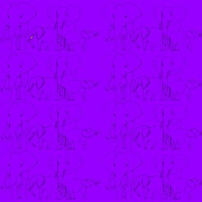 African Elephants in Purple