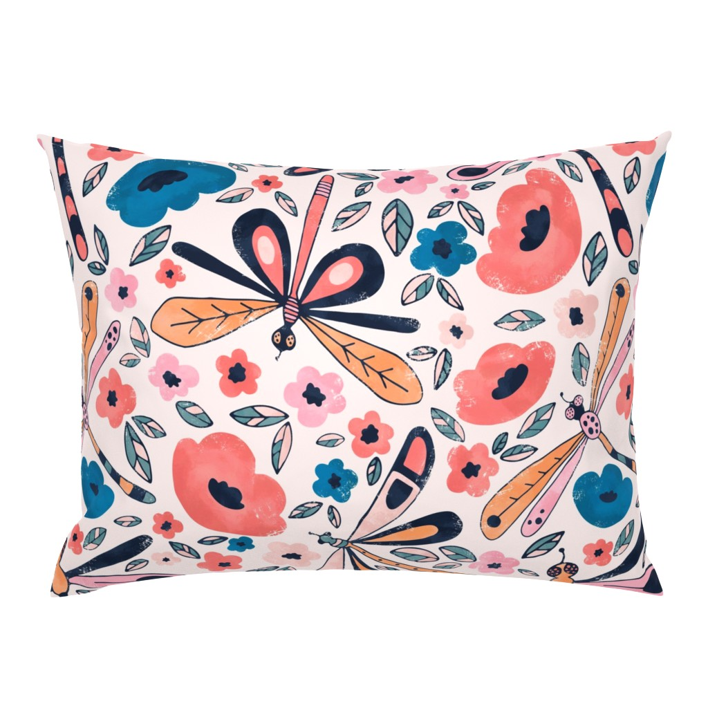 Campine Pillow Sham featuring Princes Dragonfly by lidiebug
