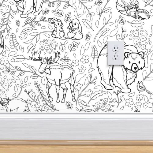 - Emerald Forest - Coloring Book - Spoonflower