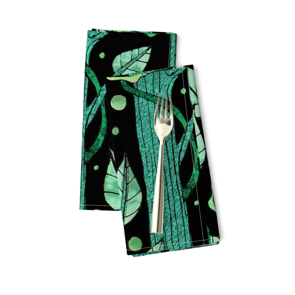 Amarela Dinner Napkins featuring floral emerald forest by lucybaribeau