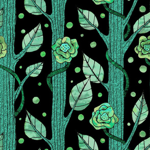 floral emerald forest