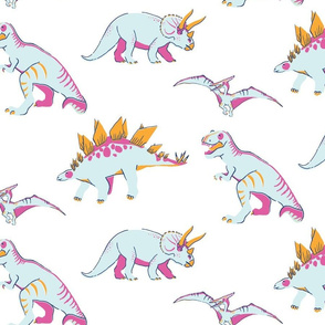 Princess Awesome Neon Dinosaurs