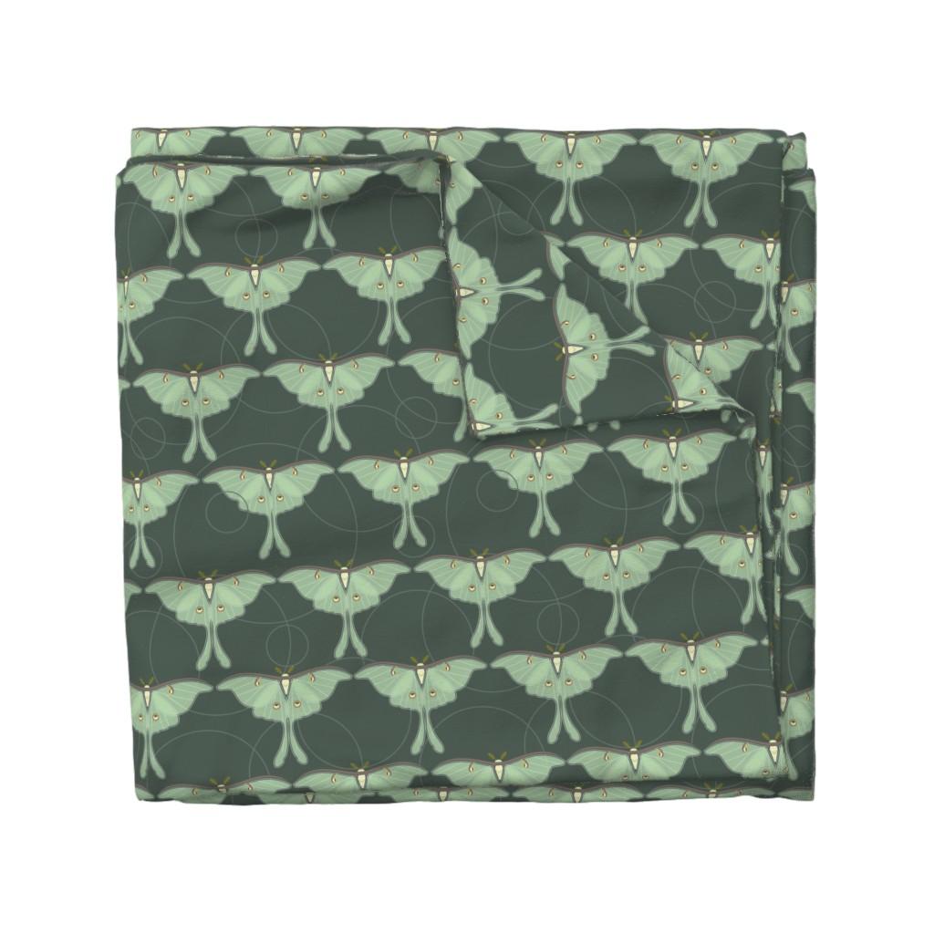 Wyandotte Duvet Cover featuring luna moth pattern XLG by cindylindgren