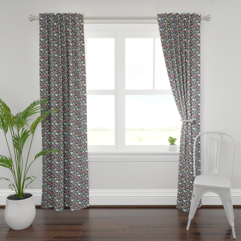 Plymouth Curtain Panel featuring space by ebygomm