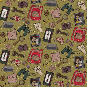 Girls bag is full of adventures