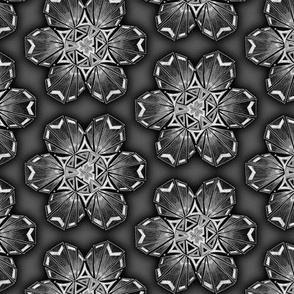 snowflake hexagons #2 - silver satin