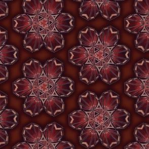 snowflake hexagons #2 - copper satin