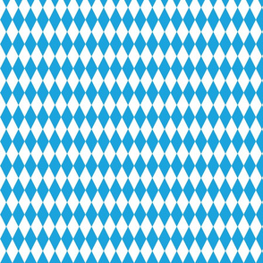 Oktoberfest Bavarian Blue and White Small Diagonal Diamond Pattern