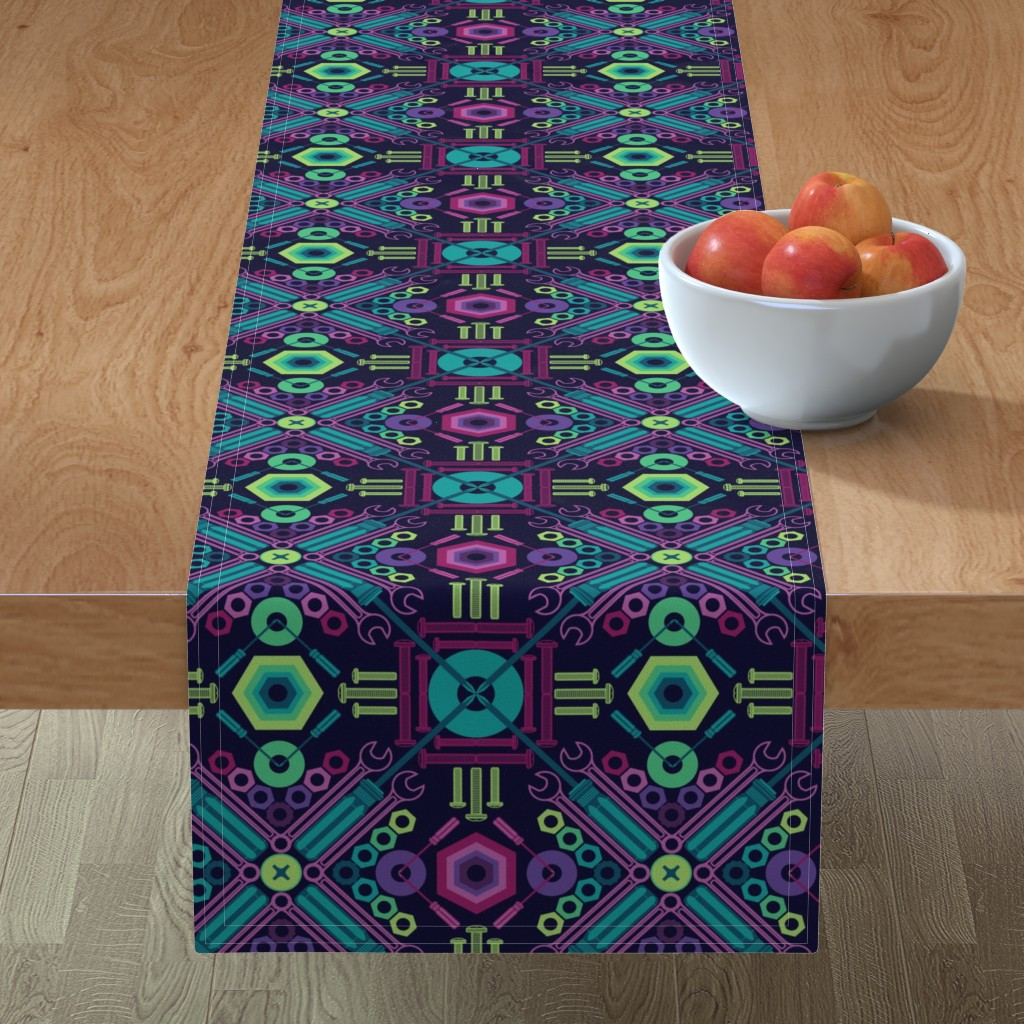 Minorca Table Runner featuring Boulon Papillon - (Bolt Butterfly) by nanshizzle