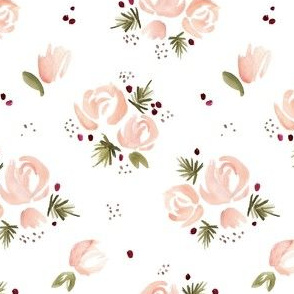 Winter Roses in Blush Pink