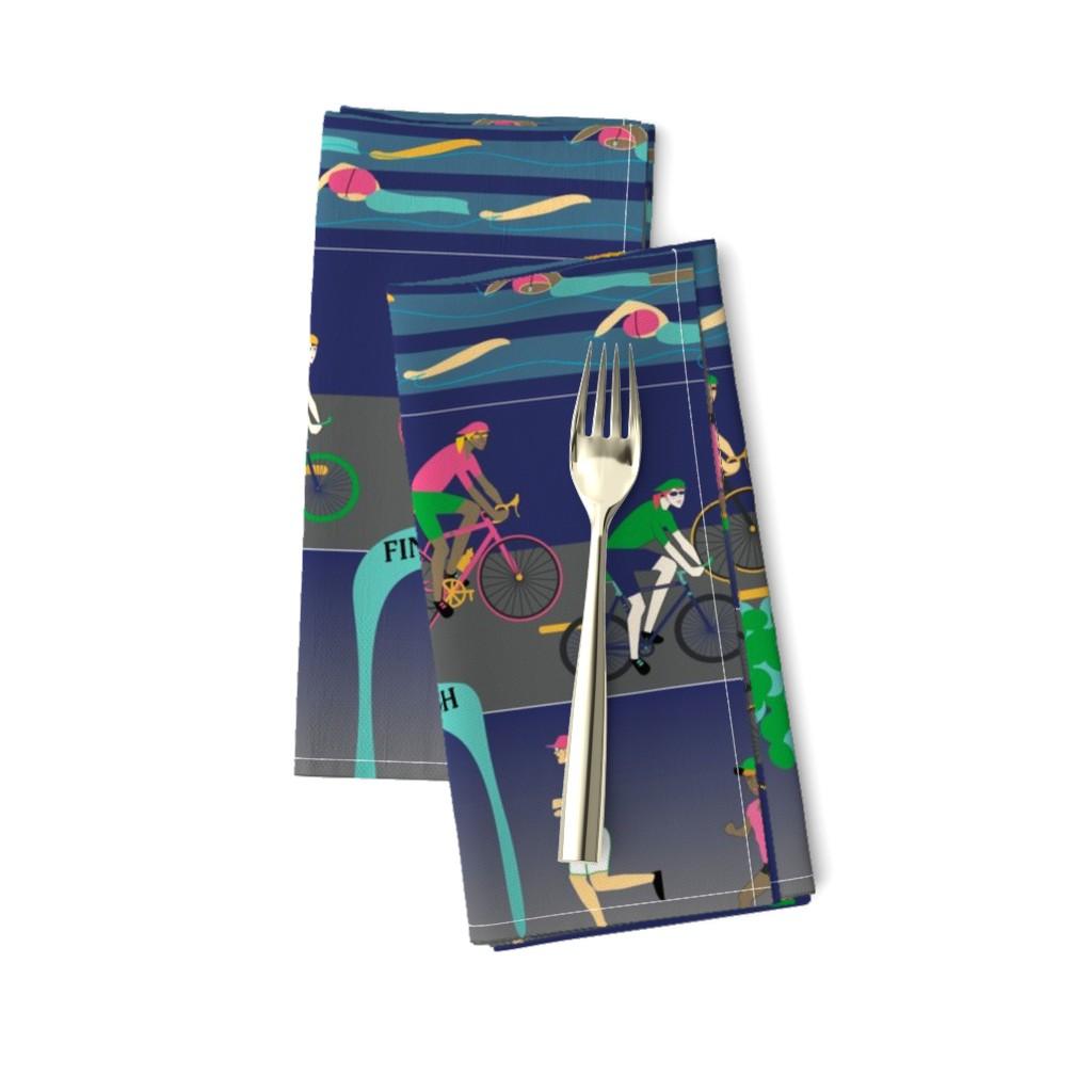 Amarela Dinner Napkins featuring This Princess is a Triathlete by stasiajahadi