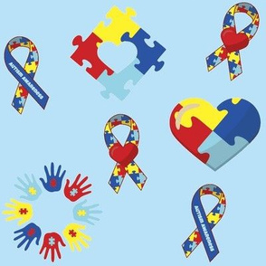 Autism Awareness on Blue