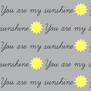 You Are My Sunshine Gray