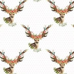 """4"""" Woodland Dreams Deer - Blush Polka Dots"""