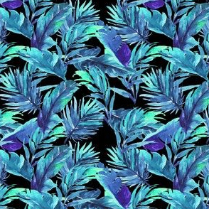 "4"" Aqua Leaves - Black"