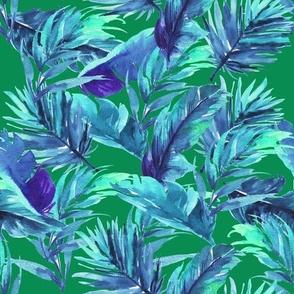 """10.5"""" Aqua Leaves - Green"""