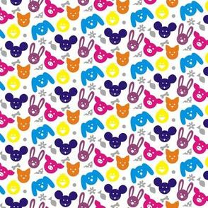 Ditsy Animals - Multi Brights