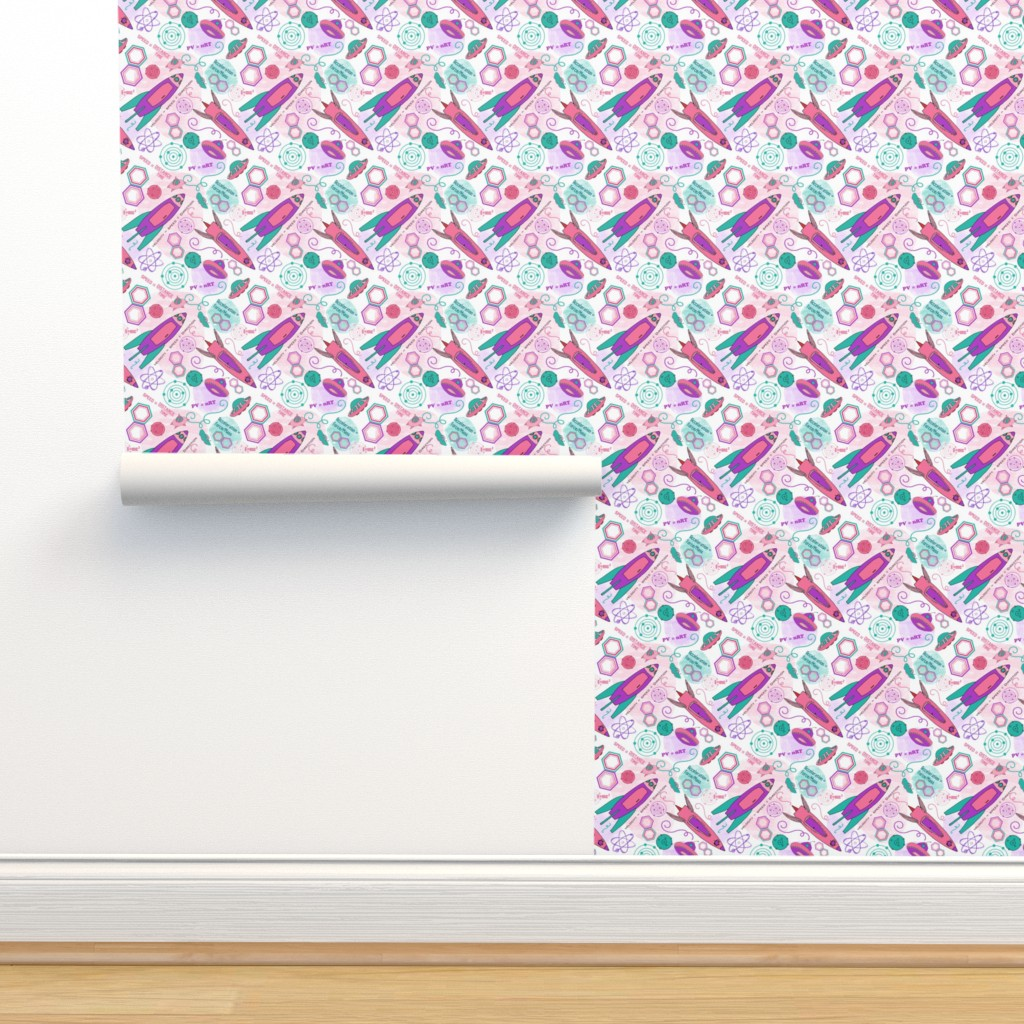 Isobar Durable Wallpaper featuring Physics girl, medium by palifino