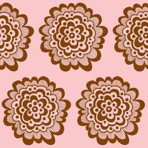 Flor - Brown on Pink