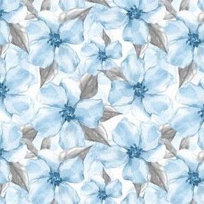 Blue romantic flowers 5
