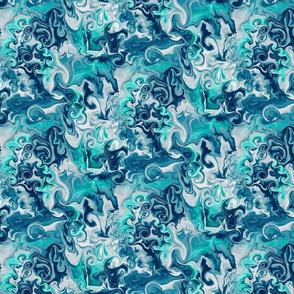 Aqua Waves--Medium