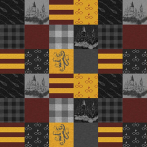 """3"""" Wizard Quilt - Burgandy And Gold"""