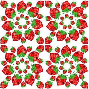 Kawaii Strawberry Mandalas