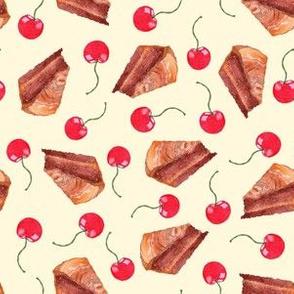 cherries and cakes- cornsilk