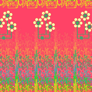 Bright as a daisy chain - watermelon pink