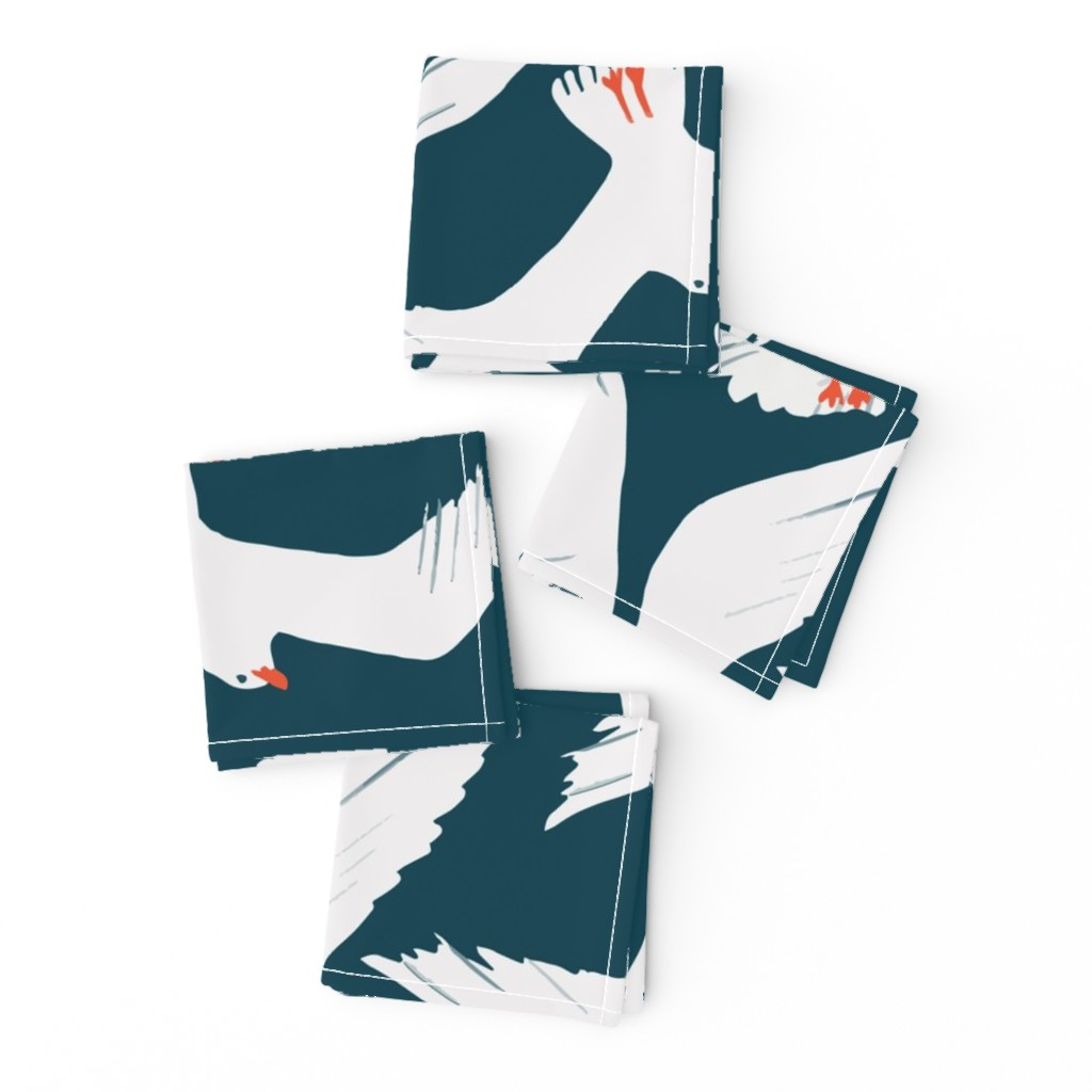 Frizzle Cocktail Napkins featuring Sea Gulls by melarmstrong