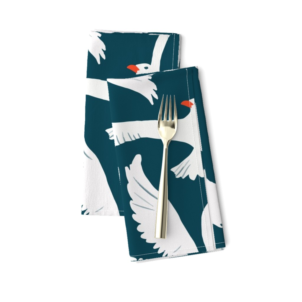 Amarela Dinner Napkins featuring Sea Gulls by melarmstrong