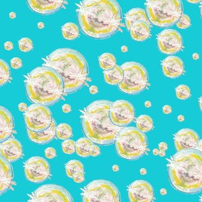 Abstract Bubbles Turquoise BG