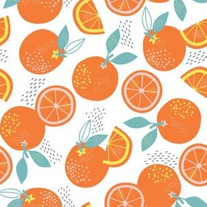 ORANGES ARE THE ONLY FRUIT white
