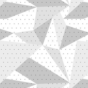 Climbing boulders bouldering gym abstract geometric triangles pattern soft gray
