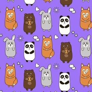 smiling cartoon animals for children