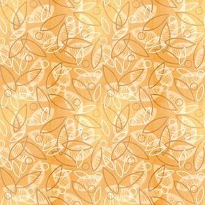 Sketchy Leaves (Peach)
