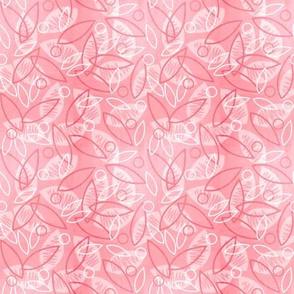 Sketchy Leaves (Pink)