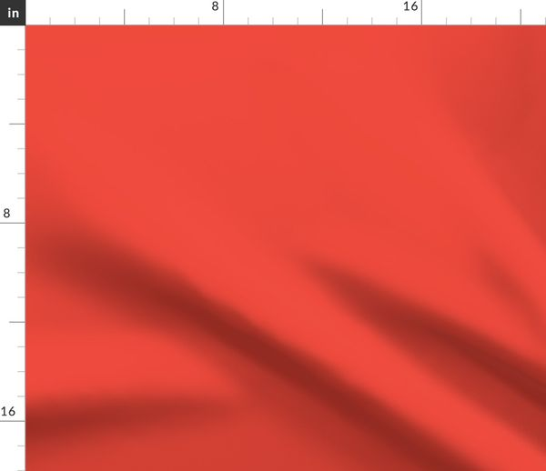 Fabric by the Yard Cherry Tomato   Pantone Fashion Colors 2018    Spring-Summer (New York and London)   Solid Color
