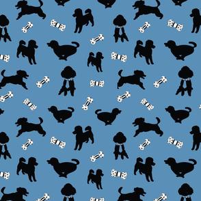 Happy Poodle, Blue