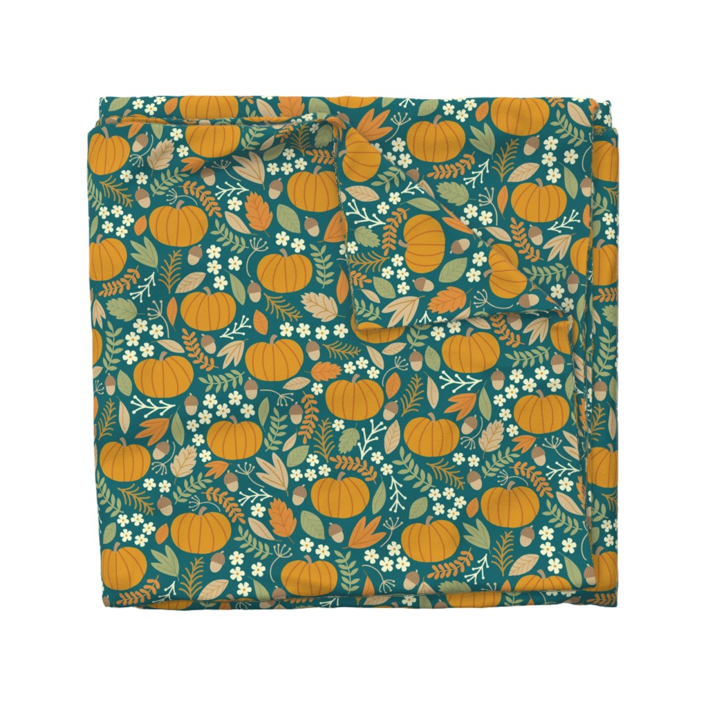 Wyandotte Duvet Cover featuring October-Jade-large by taylorshannon