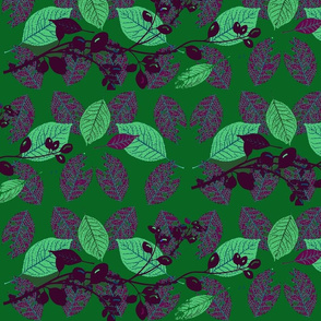 Skeleton leaves and berries/ Emerald Forest