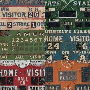 Sports Scoreboards for Baseball, Football, Basketball, Soccer, Hockey, Lacrosse and Sports