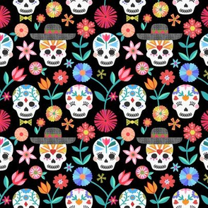 Sugar Skulls - Black small scale