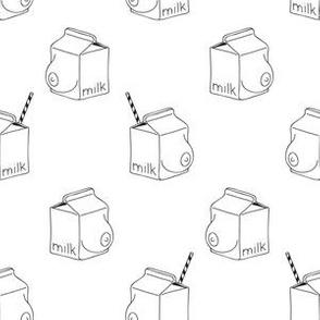 milk - monochrome -white